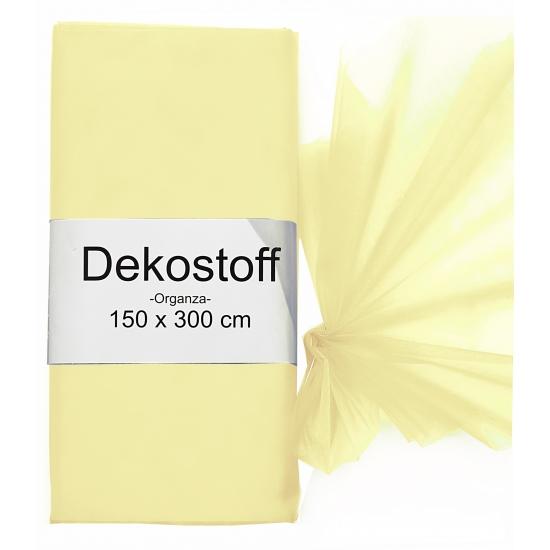 Organza tule stoffen creme kleurige 150 x 300 cm