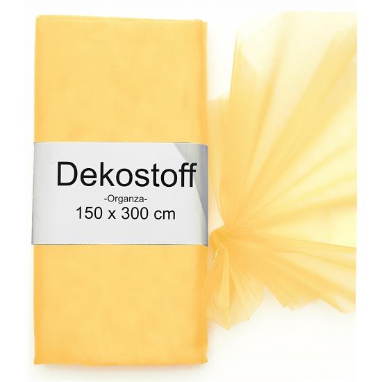 Organza tule stoffen oranje 150 x 300 cm
