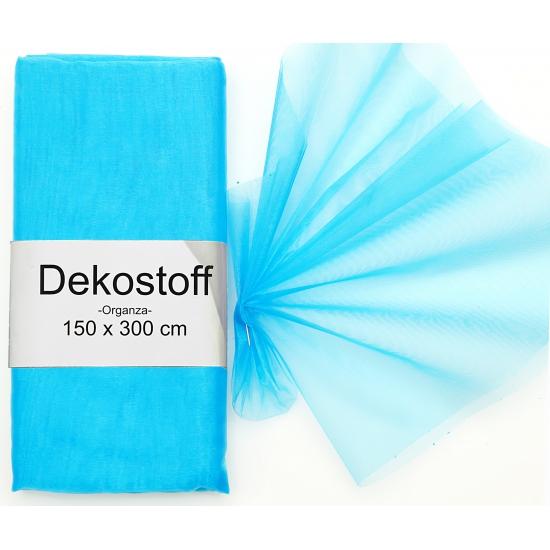 Organza tule stoffen turquoise 150 x 300 cm