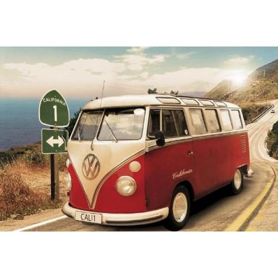 Poster van Volkswagen Camper Californie