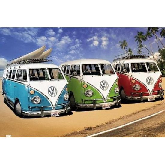 Poster van Volkswagen Camper