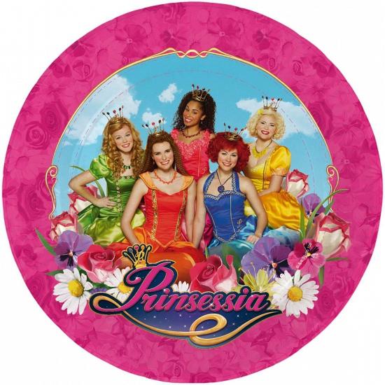 Prinsessia thema wegwerp bordjes 8 stuks