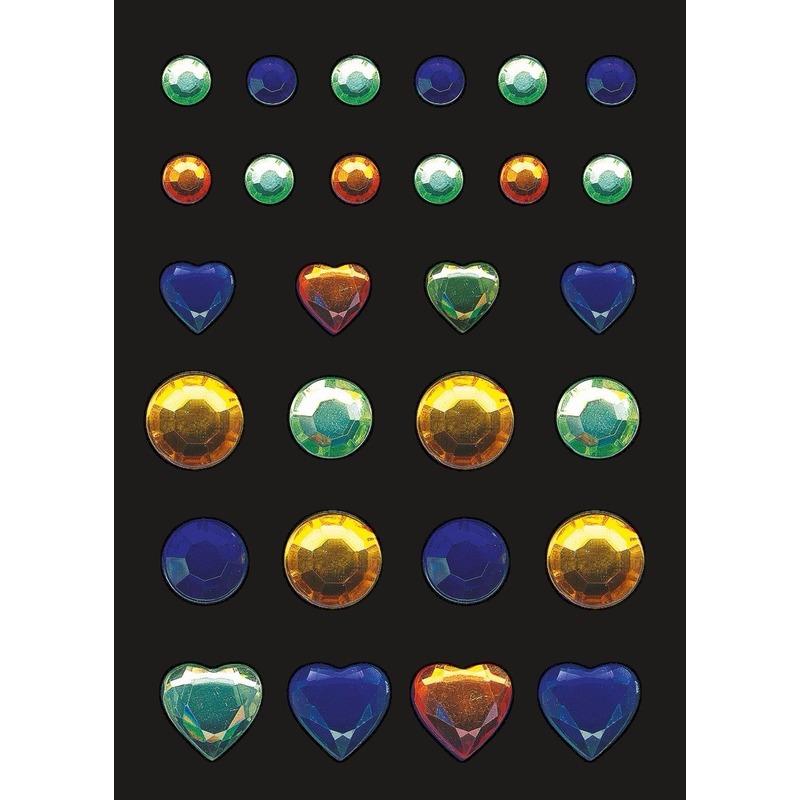 Stickervel met glitters en strass steentjes 3 kleuren