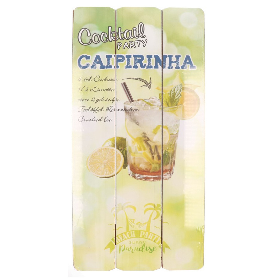 Tuinversiering bordje Caipirinha cocktail