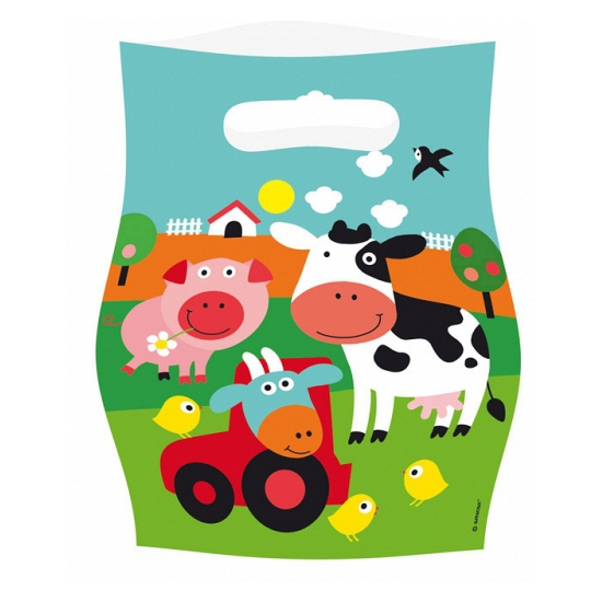 Uitdeel zakje boerderij dieren
