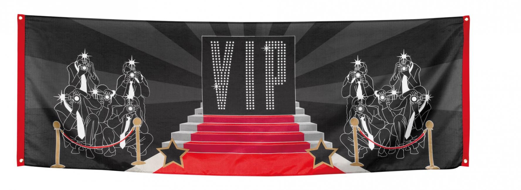 VIP vlag van 74 x 220 cm