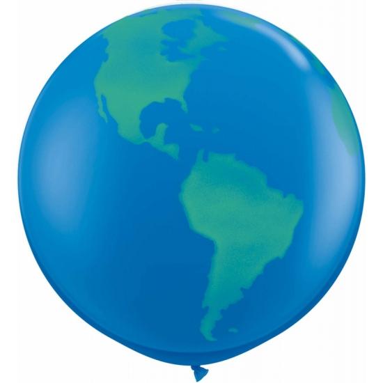 Wereldbol mega ballonnen 91 cm